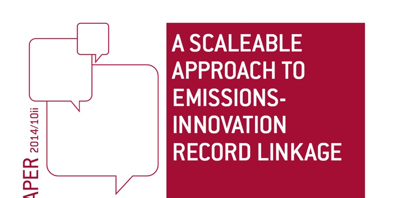 A Scaleable Approach To Emissions-Innovation Record Linkage